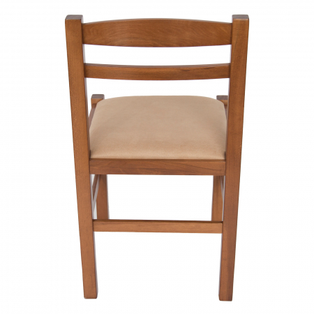 Scaun din lemn Pisa tapitat nuc [3]