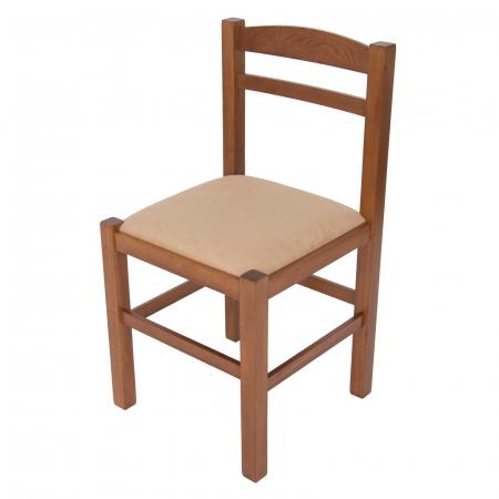 Scaun din lemn Pisa tapitat nuc [6]