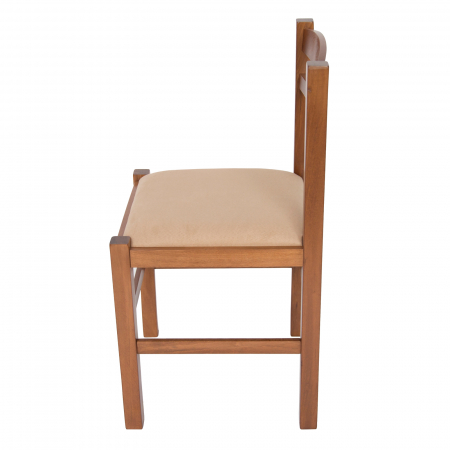 Scaun din lemn Pisa tapitat nuc [5]