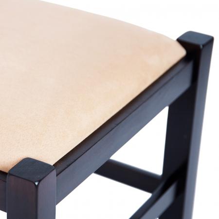 Scaun din lemn Pisa tapitat wenge [8]