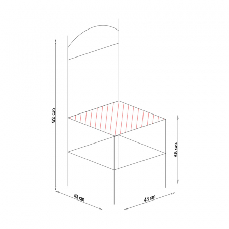 Scaun din lemn Pisa tapitat wenge [9]