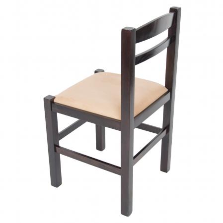 Scaun din lemn Pisa tapitat wenge [4]