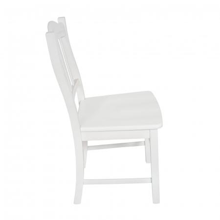 Scaun din lemn Silvana masiv alb [1]