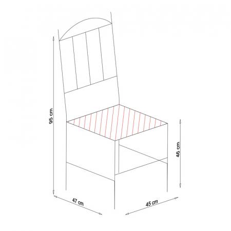 Scaun din lemn Silvana masiv nuc [4]