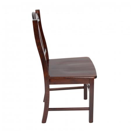 Scaun din lemn Silvana masiv nuc ciocolata [1]