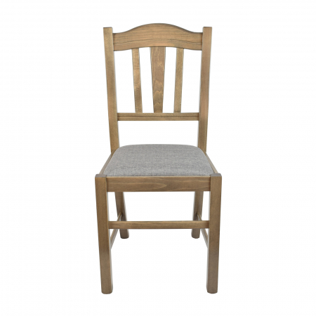 Scaun din lemn Silvana tapitat maro-trufa [3]