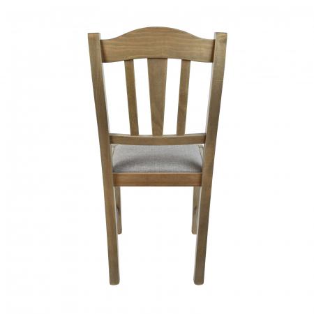 Scaun din lemn Silvana tapitat maro-trufa [2]
