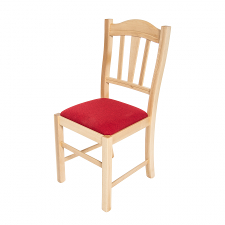 Scaun din lemn Silvana tapitat natur [5]
