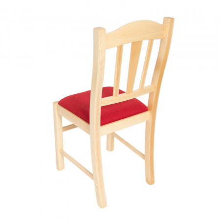 Scaun din lemn Silvana tapitat natur [4]