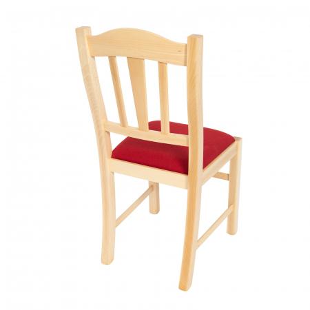 Scaun din lemn Silvana tapitat natur [2]