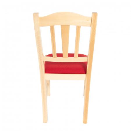 Scaun din lemn Silvana tapitat natur [3]