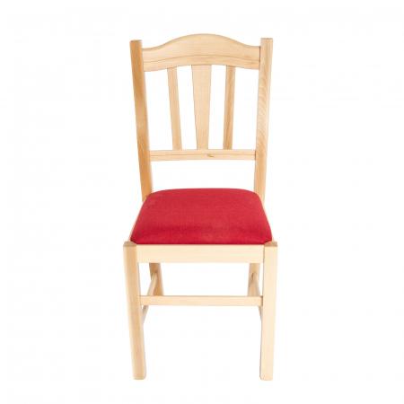 Scaun din lemn Silvana tapitat natur [6]