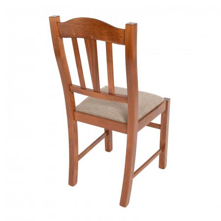 Scaun din lemn Silvana tapitat nuc [2]