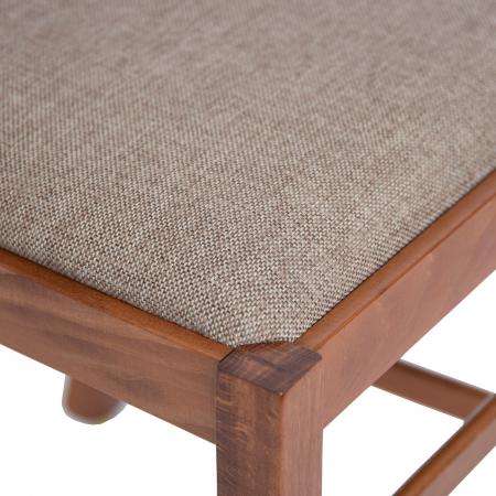 Scaun din lemn Silvana tapitat nuc [6]