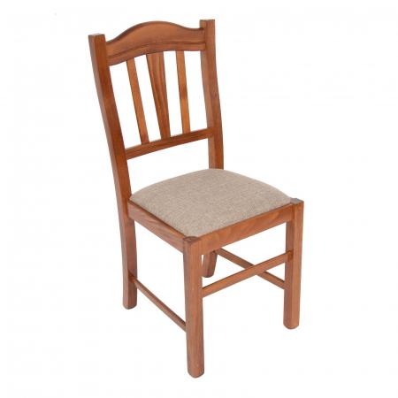 Scaun din lemn Silvana tapitat nuc [0]