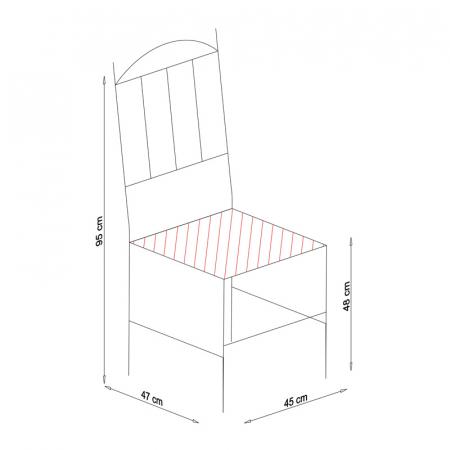 Scaun din lemn Silvana tapitat nuc [7]