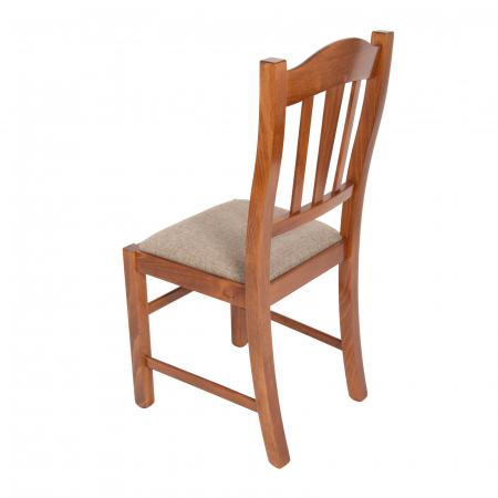 Scaun din lemn Silvana tapitat nuc [4]