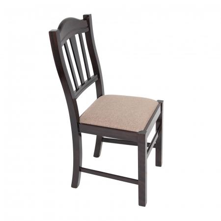 Scaun din lemn Silvana tapitat wenge [0]