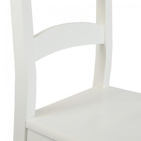 Scaun din lemn Sonya Modern masiv alb [3]