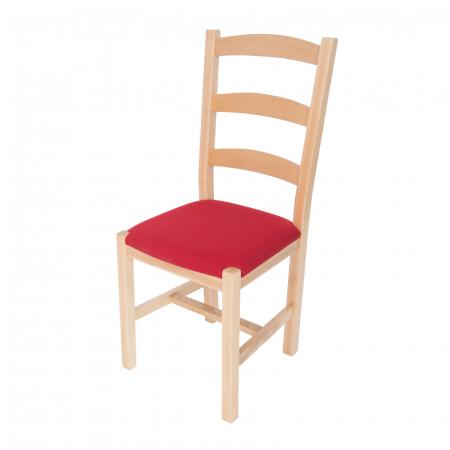 Scaun din lemn Sonya Modern tapitat natur [3]
