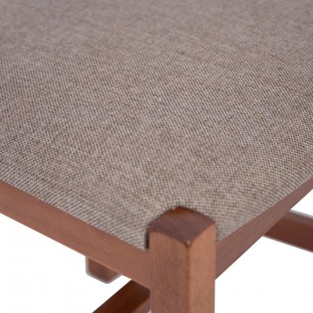 Scaun din lemn Sonya Modern tapitat nuc [5]