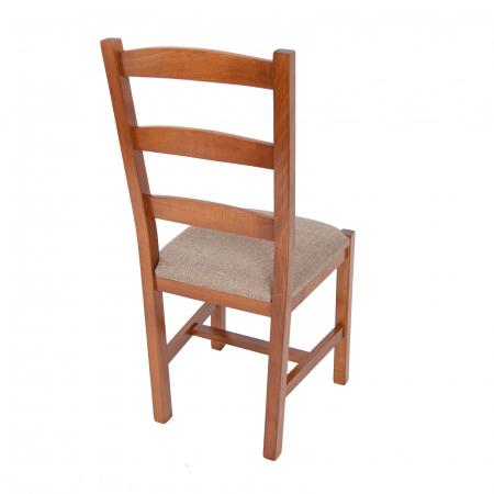 Scaun din lemn Sonya Modern tapitat nuc [2]