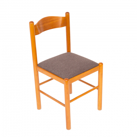 Scaun din lemn Toronto tapitat cires [0]
