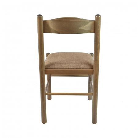 Scaun din lemn Toronto tapitat maro-trufa [2]