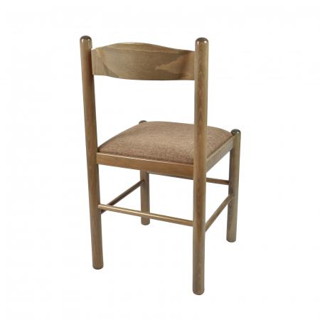 Scaun din lemn Toronto tapitat maro-trufa [3]