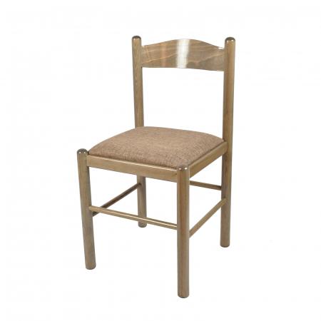 Scaun din lemn Toronto tapitat maro-trufa [0]