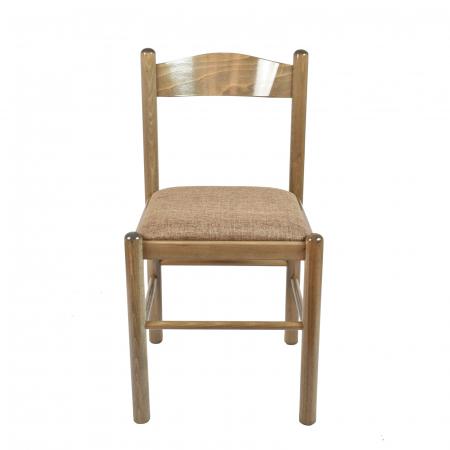 Scaun din lemn Toronto tapitat maro-trufa [4]