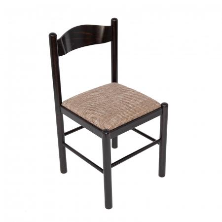 Scaun din lemn Toronto tapitat wenge [0]