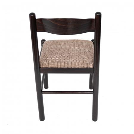 Scaun din lemn Toronto tapitat wenge [3]