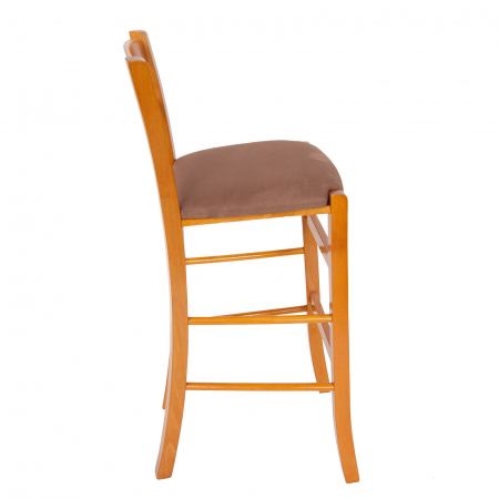 Scaun din lemn Venetia bar tapitat cires [1]
