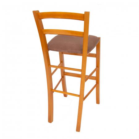 Scaun din lemn Venetia bar tapitat cires [2]