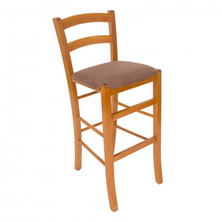 Scaun din lemn Venetia bar tapitat cires [0]