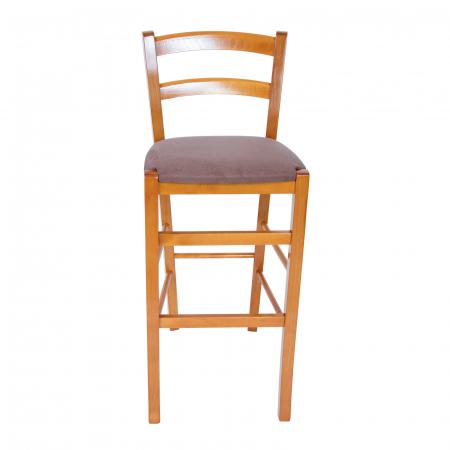 Scaun din lemn Venetia bar tapitat cires [5]