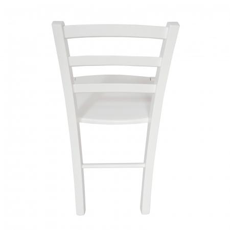 Scaun din lemn Venetia masiv alb [3]