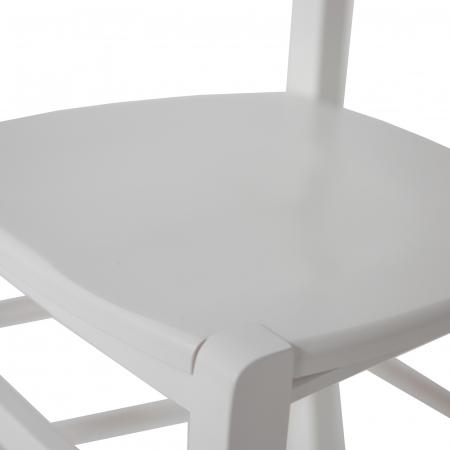 Scaun din lemn Venetia masiv alb [7]