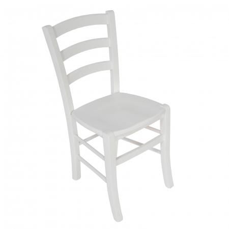 Scaun din lemn Venetia masiv alb [0]