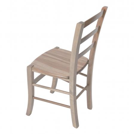 Scaun din lemn Venetia masiv maro-trufa [4]