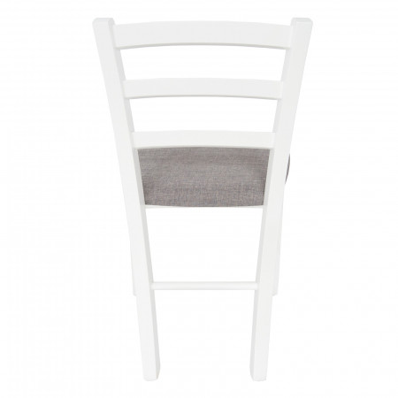 Scaun din lemn Venetia tapitat alb [3]