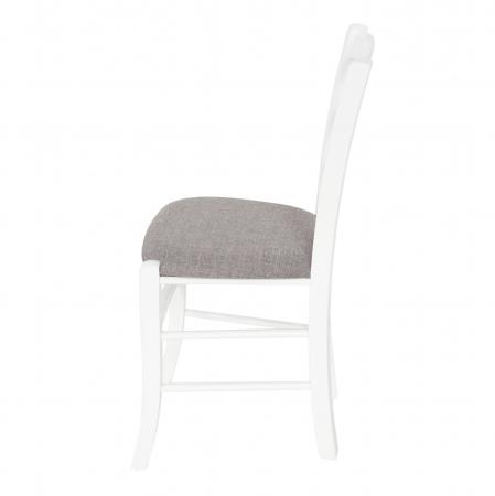 Scaun din lemn Venetia tapitat alb [5]