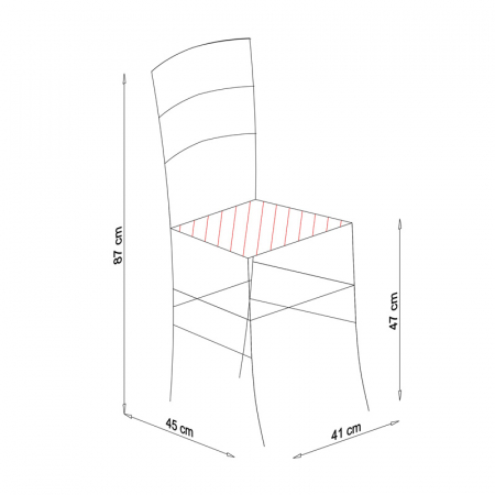 Scaun din lemn Venetia tapitat alb [9]