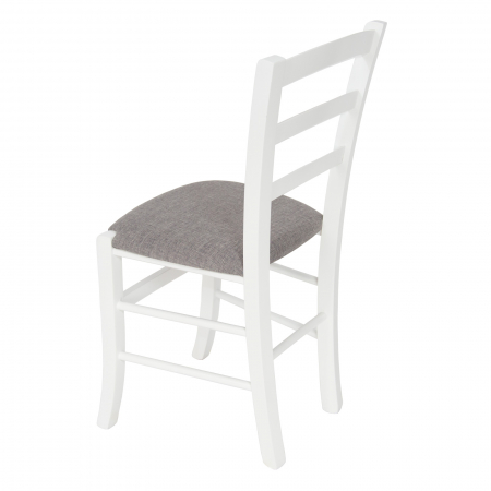 Scaun din lemn Venetia tapitat alb [4]