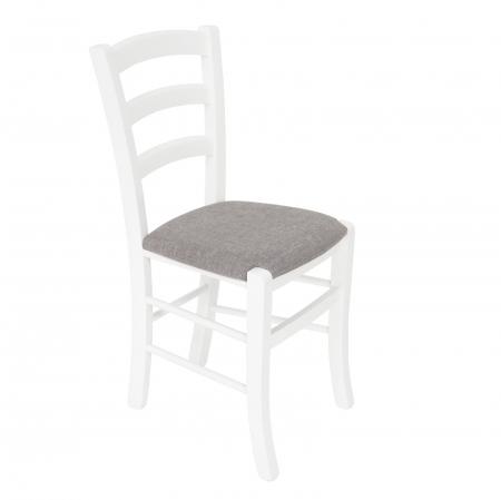 Scaun din lemn Venetia tapitat alb [0]
