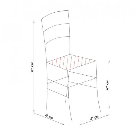 Scaun din lemn Venetia tapitat cires [7]