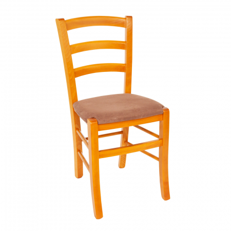Scaun din lemn Venetia tapitat cires [0]