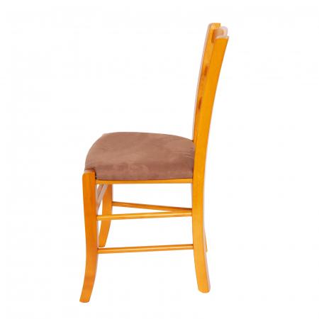 Scaun din lemn Venetia tapitat cires [4]