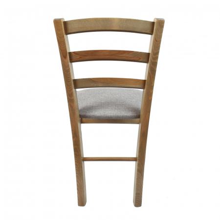 Scaun din lemn Venetia tapitat maro-trufa [2]